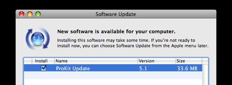 ีupdate prokit 5.1 จาก apple